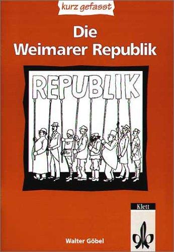 9783123506062: Die Weimarer Republik