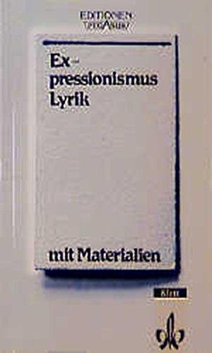 9783123547003: Expressionismus - Lyrik