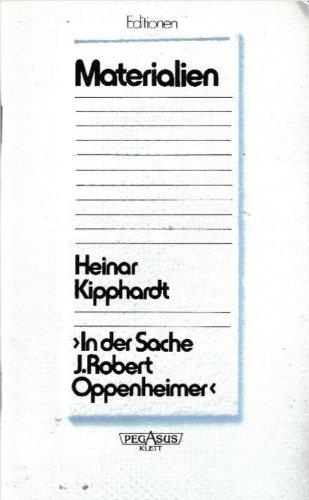 9783123572005: In der Sache J. Robert Oppenheimer. Nur Materialien