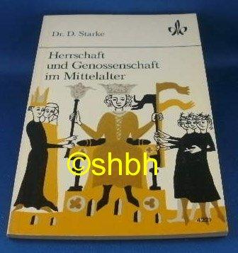 9783124221001: Herrschaft und Genossenschaft im Mittelalter (Livre en allemand)