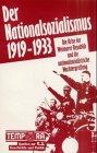 Der Nationalsozialismus 1919-1933,: Conze, Werner