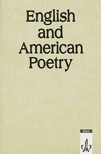 9783125064003: English and American Poetry. Gedichtband