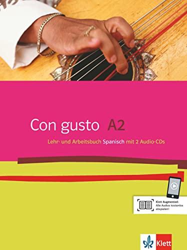 9783125149908: Con gusto. Lehr- und Arbeitsbuch mit 2 Audio-CDs - A2
