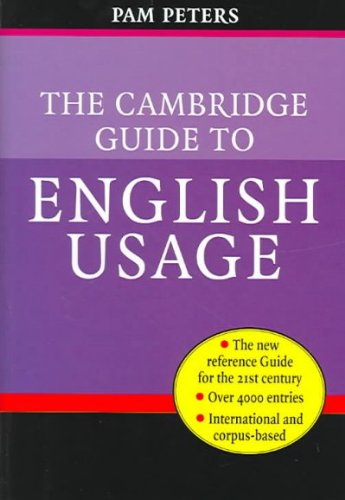 9783125161375: The Cambridge Guide to English Usage