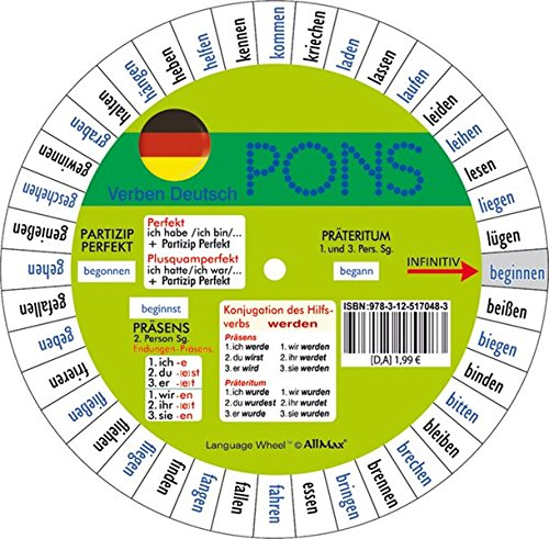 9783125170636: Pons German Series: Pons Drehscheibe Unregelmassiger Verben Pack of 5
