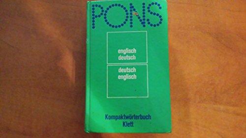 9783125171008: PONS Kompaktwörterbuch Englisch. Englisch-Deutsch/Deutsch-Englisch