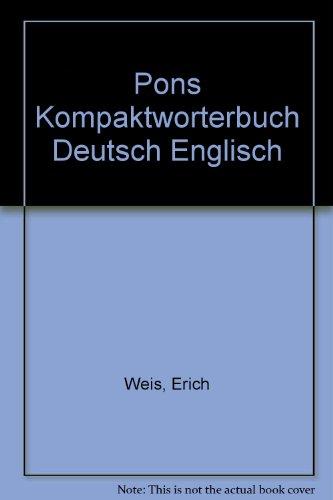 9783125171039: Pons Kompaktworterbuch Deutsch Englisch