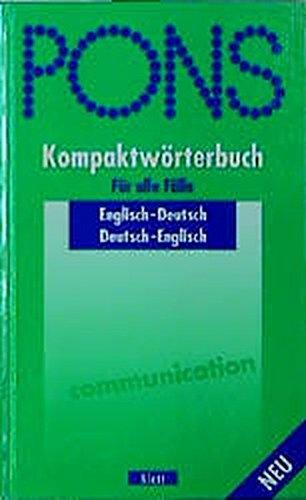 9783125171046: PONS Kompaktwörterbuch, Englisch