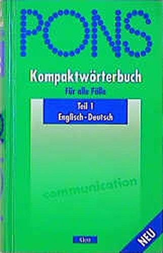 9783125171053: Pons Kompaktworterbuch (German Edition)