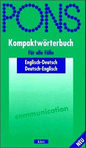9783125171435: PONS Kompaktwörterbuch Englisch. Englisch- Deutsch / Deutsch- Englisch.