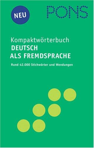 9783125171718: PONS Kompaktworterbuch Deutsch Als Fremdsprache
