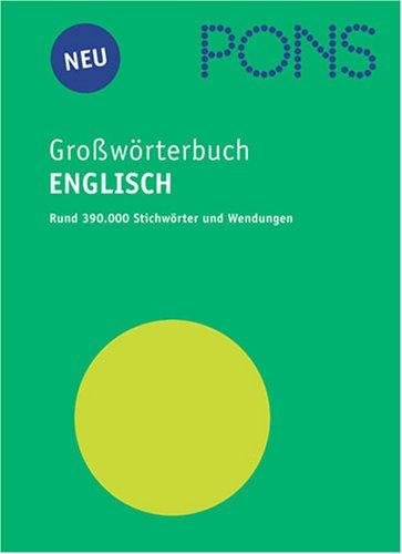 9783125171763: PONS Großwörterbuch Englisch, m. Extraheft 'Englisch Aktiv'