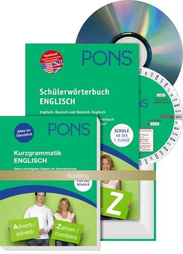 9783125172364: PONS Schülerwörterbuch Englisch, m. Kurzgrammatik u. CD-ROM