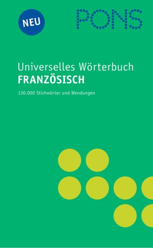 9783125172678: PONS Universelles Wörterbuch Französisch