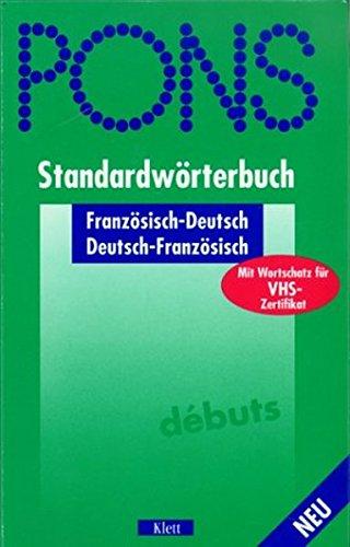 9783125172760: PONS Standardwörterbuch, Französisch