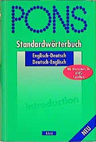 9783125172869: PONS Standardw?Ârterbuch, Englisch