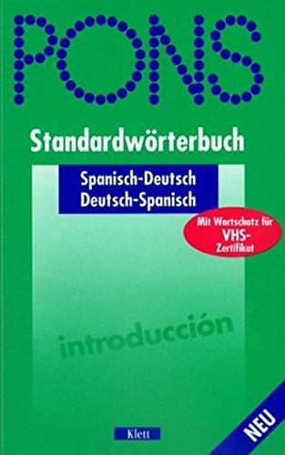 9783125172968: PONS Standardwrterbuch: Spanisch-Deutsch/Deutsch-Spanisch