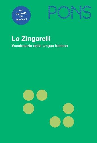 9783125173651: PONS Lo Zingarelli: Vocabolario della Lingua Italiana