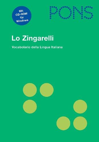 9783125173682: PONS Lo Zingarelli: Vocabolario della Lingua Italiana mit CD-ROM