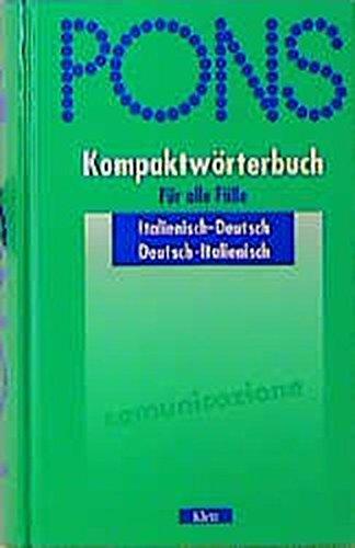 9783125173705: PONS Kompaktwörterbuch, Italienisch