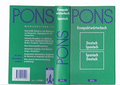 9783125174016: PONS Kompaktwörterbuch Spanisch. Deutsch-Spanisch /Spanisch-Deutsch