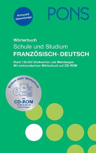 9783125175310: PONS Wörterbuch für Schule und Studium 1/ Französisch-Deutsch: Rund 132.000 Stichwörter und Wendungen. Mit elektronischem Wörterbuch auf CD-ROM