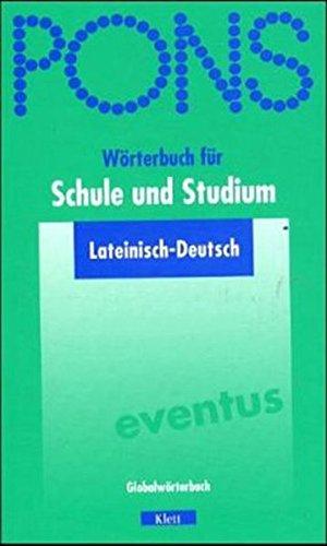 9783125175525: PONS Wörterbuch für Schule und Studium. Lateinisch-Deutsch.