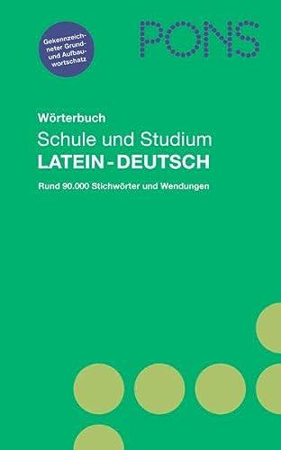 9783125175549: PONS Wörterbuch für Schule und Studium / Latein-Deutsch