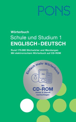 9783125175877: Pons Reference: Pons Worterbuch English-Deutsch MIT CD-Rom (German Edition)