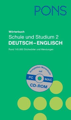 9783125175938: PONS Reference: Pons Worterbuch Deutsch-English mit CD-Rom