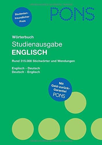 9783125175945: PONS Wörterbuch Studienausgabe Englisch: Englisch-Deutsch / Deutsch-Englisch
