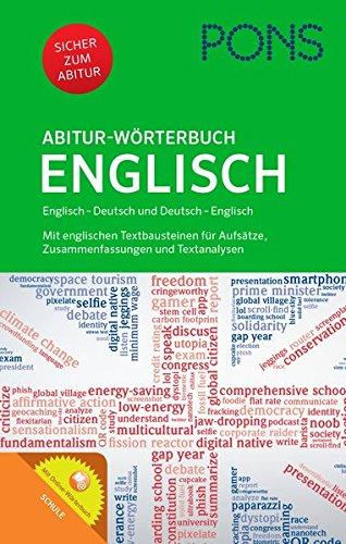 9783125176690: PONS Abitur-Wörtebuch Englisch