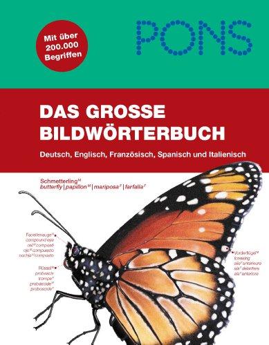 9783125178762: PONS Das große Bildwörterbuch : Über 40.000 Begriffe in Bild und Wort, Deutsch, Englisch, Französisch, Spanisch, Italienisch