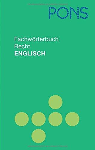 9783125179752: PONS Fachwörterbuch Recht Englisch - Deutsch / Deutsch - Englisch