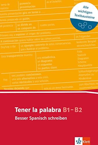 9783125195653: Tener la palabra. Lernwortschatz zur Textarbeit (A2-B2)