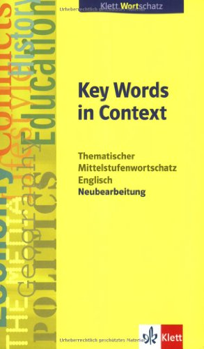 9783125197015: Key Words in Context. Neubearbeitung
