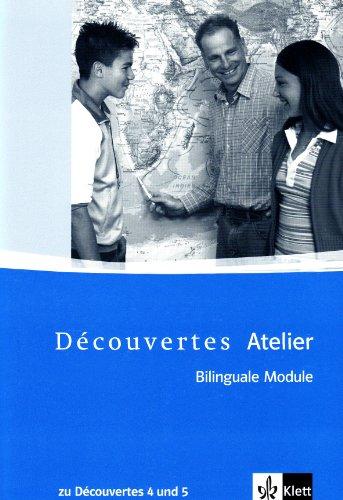 9783125228825: Découvertes Atelier / Bilinguale Module zu Découvertes Band 4 und 5: Kopiervorlagen mit Multisession-CD