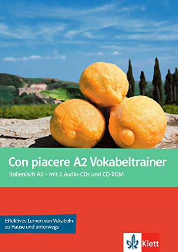 9783125251854: Con piacere A2. Vokabelheft mit Audio-CD und CD-ROM