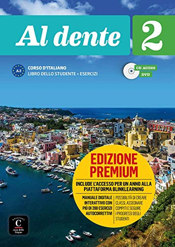 9783125253957: Al dente 2 (A2). Libro dello studente+ esercizi + CD + DVD + Premium
