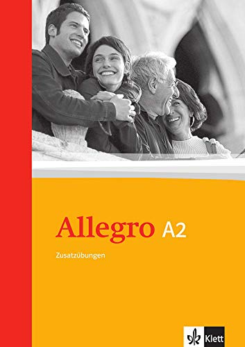 9783125255623: Allegro A2. Grammatische Zusatzübungen. Mit Lösungen: Italienisch für Anfänger