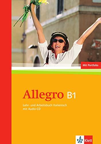 9783125255845: Allegro. Lehr- und Arbeitsbuch Italienisch mit Audio-CD (B1)