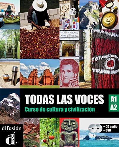 9783125269736: Todas las voces (A1/A2): Curso de cultura y civilización. Lehrbuch + Audio-CD + DVD