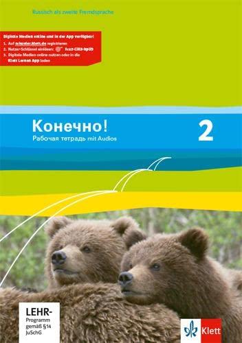 9783125275072: Konetschno! Band 2. Russisch als 2. Fremdsprache. Arbeitsheft mit Audio-CD