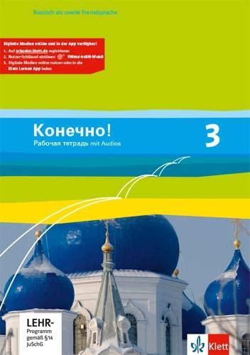 9783125275089: Konetschno! Band 3. Russisch als 2. Fremdsprache. Arbeitsheft mit Audio-CD und Lernsoftware zum Download