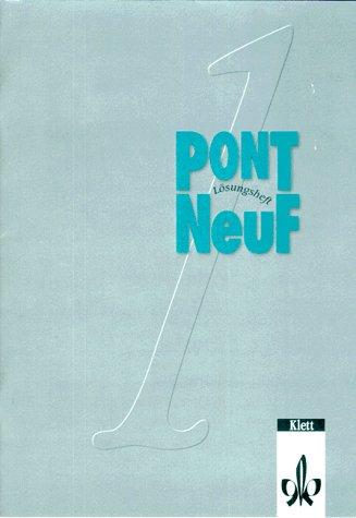 9783125290563: Pont NeuF, Lösungsheft zum Arbeitsbuch (zu Bd. 1)