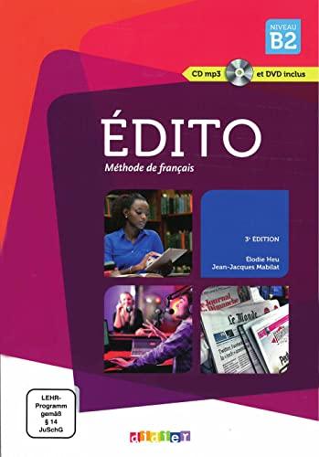 9783125293946: Édito. Livre de l'élève + CD audio + DVD B2