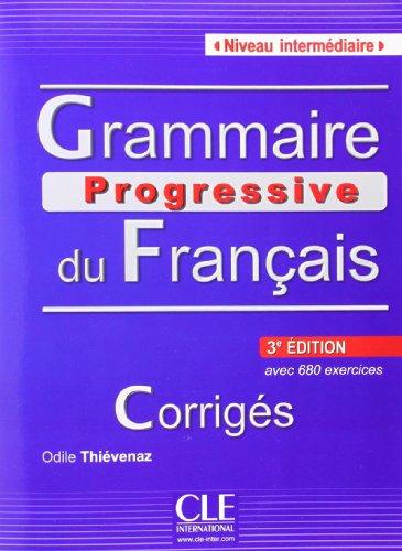 9783125298774: Grammaire progressive du français. Niveau intermédiaire. Corrigés