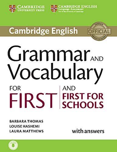 9783125329348: Grammar and Vocabulary for First and First for Schools: Book with answers and audio download