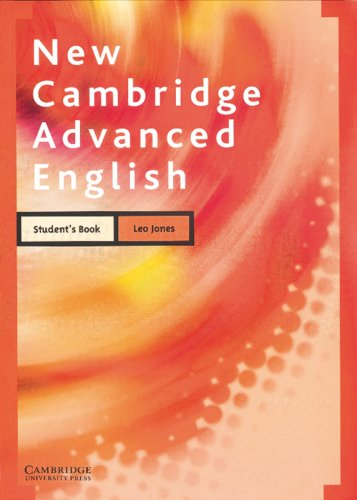 New Cambridge Advanced English, Student's Book (9783125331655) by Leo Jones