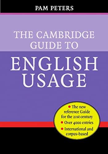 9783125331877: The Cambridge Guide to English Usage: Hardback
